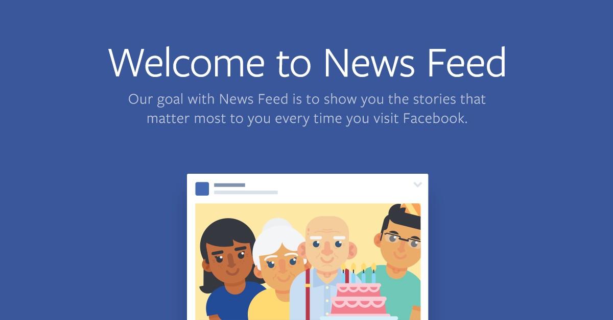 Facebook nieuwszoverzicht