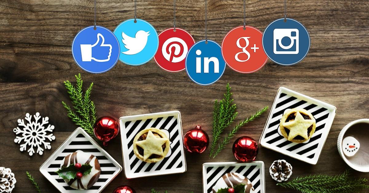 kerst op sociale media