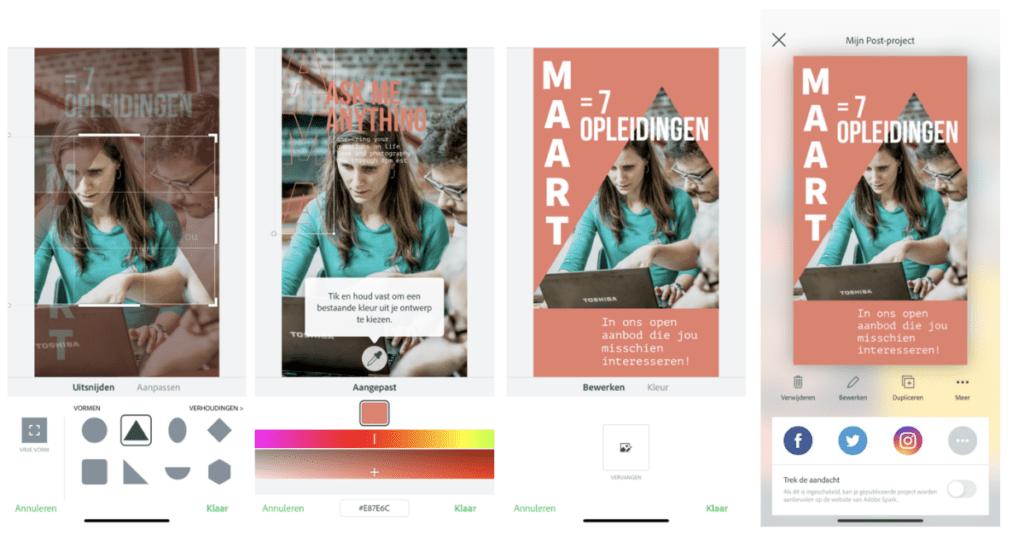 Video, foto en graphics maken met Adobe Spark