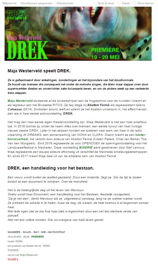 DREK - eerste versie